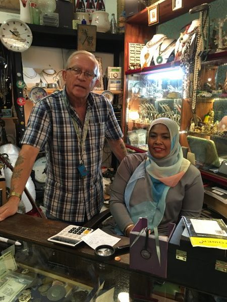 Shopkeepers in one of Simon's Town's many great antique shops